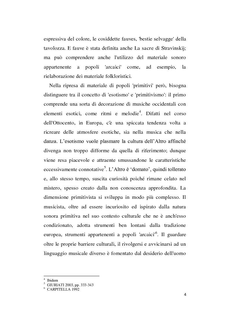 Anteprima della tesi: L'Altro in Musica, contaminazioni e influenze nella musica occidentale dal Novecento ad oggi, Pagina 5