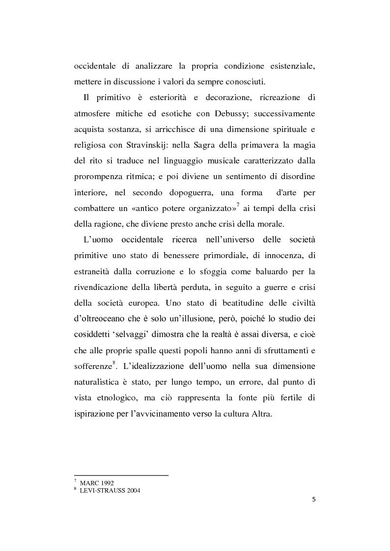 Anteprima della tesi: L'Altro in Musica, contaminazioni e influenze nella musica occidentale dal Novecento ad oggi, Pagina 6