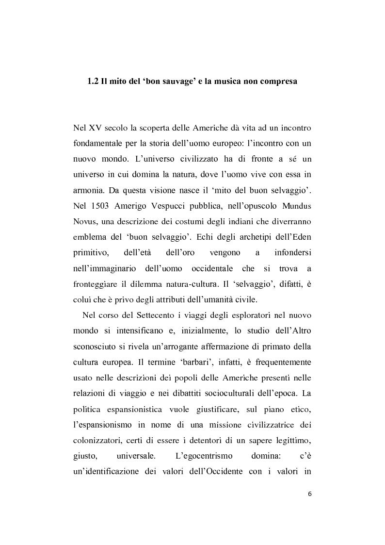 Anteprima della tesi: L'Altro in Musica, contaminazioni e influenze nella musica occidentale dal Novecento ad oggi, Pagina 7
