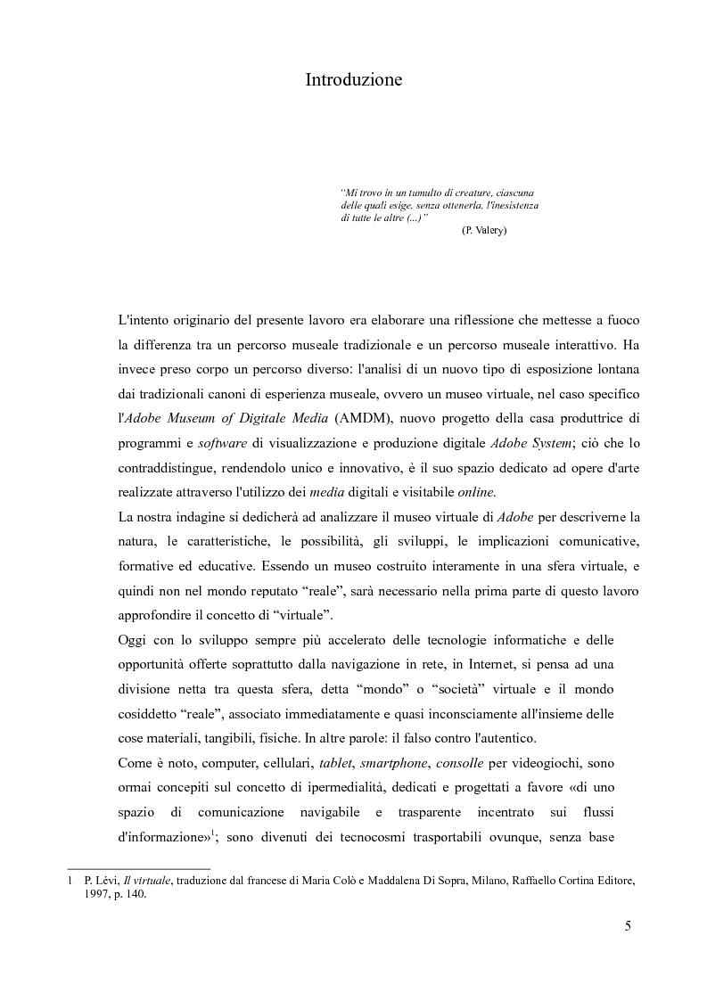 Anteprima della tesi: Comunicare con l'arte nell'epoca digitale: il caso Adobe Museum of Digital Media, Pagina 2