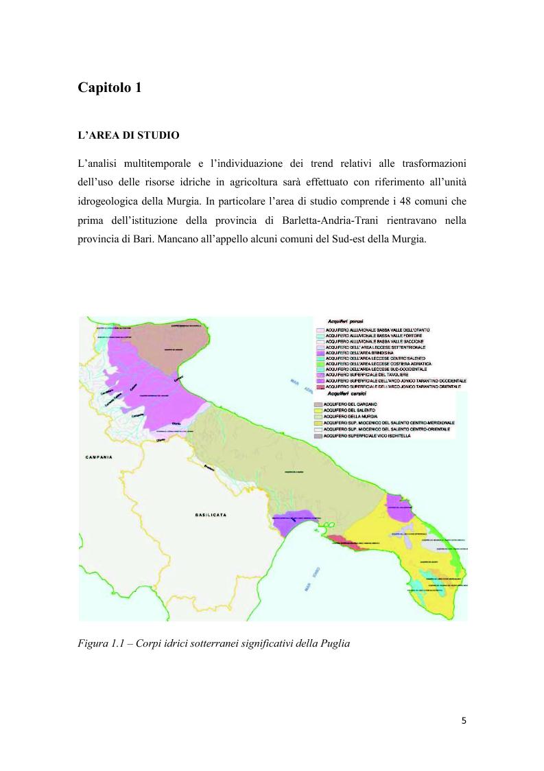 Anteprima della tesi: Analisi multitemporale (1815-2010) delle variazioni dell'uso del suolo (Murgia, Puglia): conseguenze sulle risorse idriche sotterranee, Pagina 4