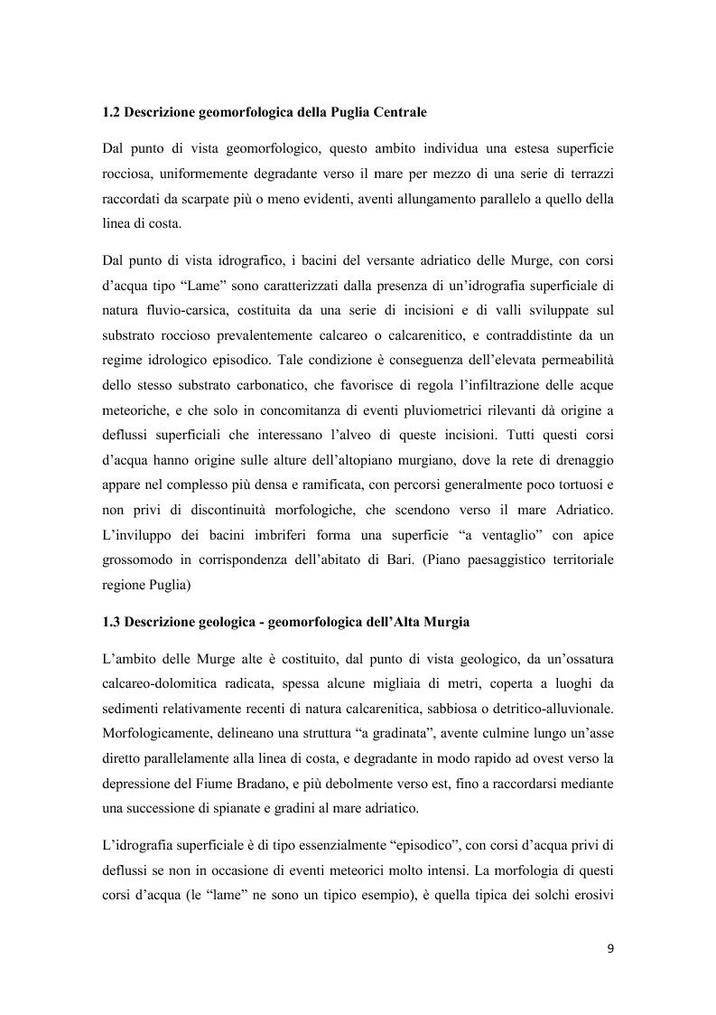 Anteprima della tesi: Analisi multitemporale (1815-2010) delle variazioni dell'uso del suolo (Murgia, Puglia): conseguenze sulle risorse idriche sotterranee, Pagina 8