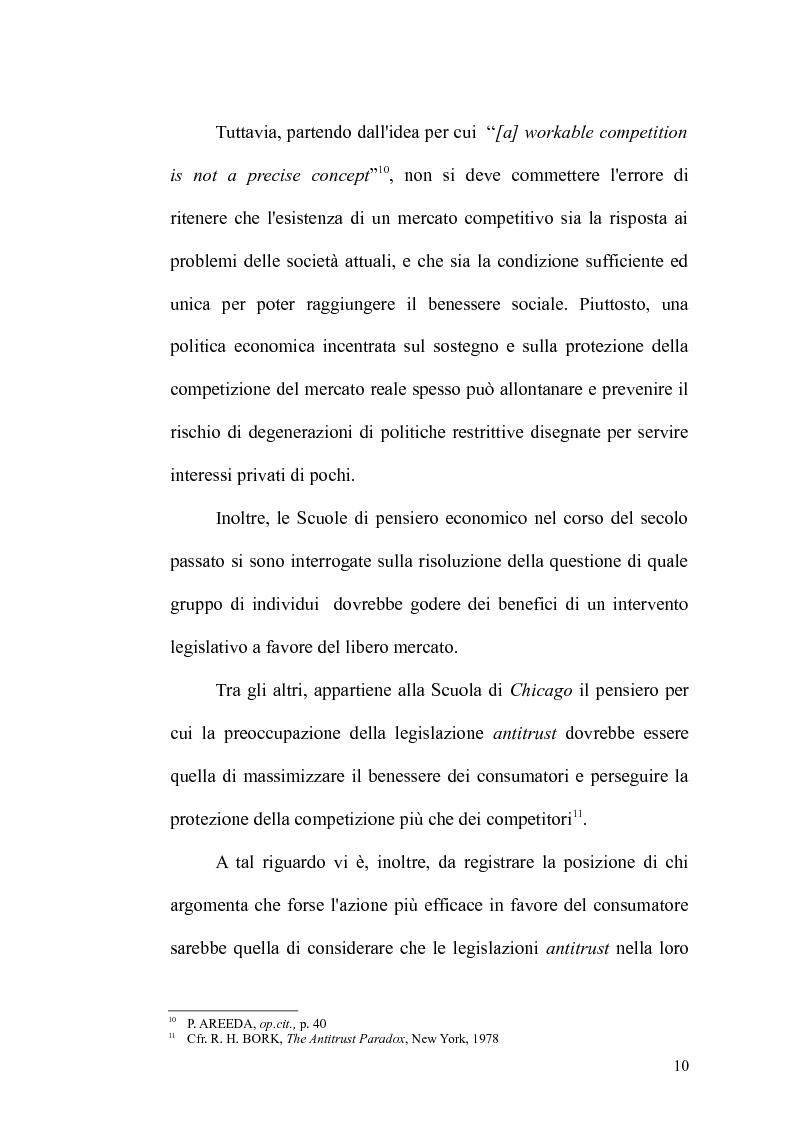 Anteprima della tesi: Antitrust Private Enforcement: Stati Uniti e Unione Europea a confronto, Pagina 11