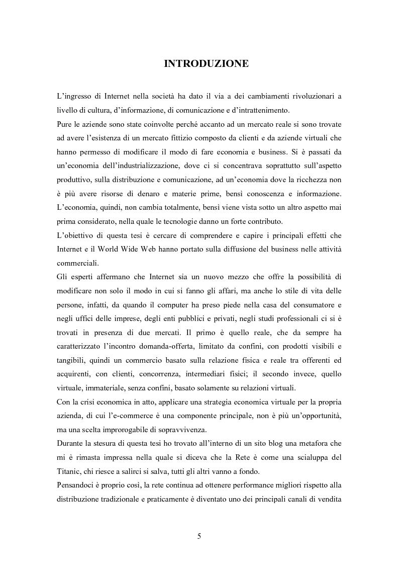 Anteprima della tesi: Opportunità di crescita per le aziende nell'era del commercio elettronico, Pagina 2