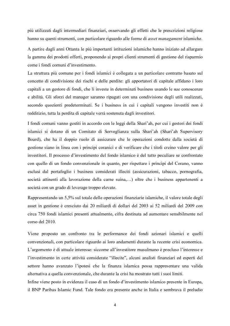Anteprima della tesi: Finanza islamica: le peculiarità dei fondi islamici; il caso BNP Asset Management., Pagina 3