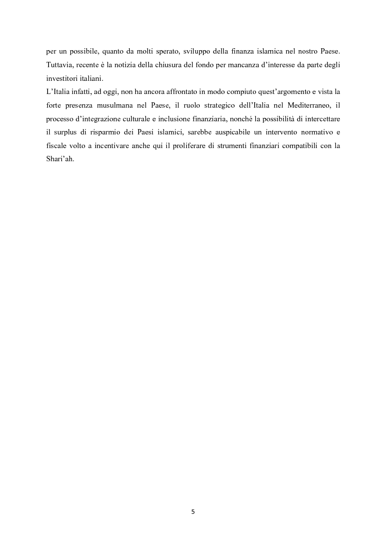 Anteprima della tesi: Finanza islamica: le peculiarità dei fondi islamici; il caso BNP Asset Management., Pagina 4