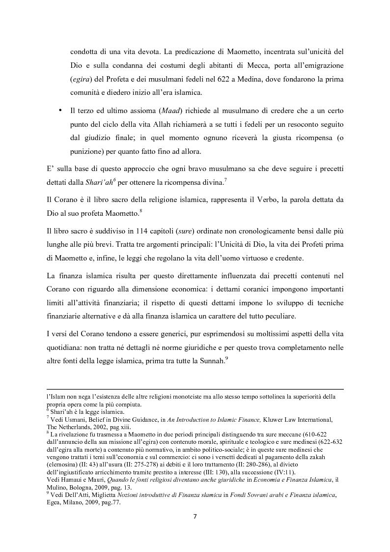 Anteprima della tesi: Finanza islamica: le peculiarità dei fondi islamici; il caso BNP Asset Management., Pagina 6