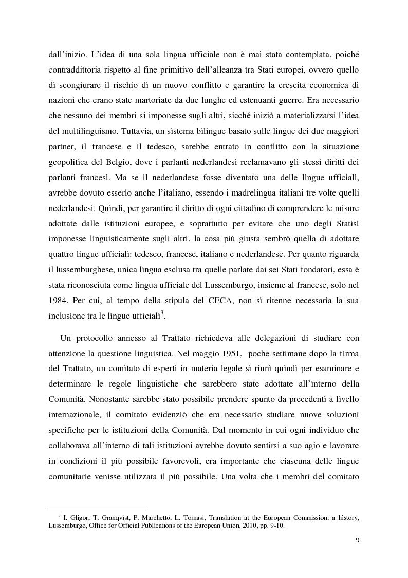 Anteprima della tesi: Tradurre per la Commissione Europea: tecnologie, metodi e strategie di lavoro dei traduttori della Direzione Generale per la Traduzione., Pagina 6
