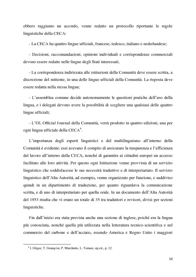 Anteprima della tesi: Tradurre per la Commissione Europea: tecnologie, metodi e strategie di lavoro dei traduttori della Direzione Generale per la Traduzione., Pagina 7