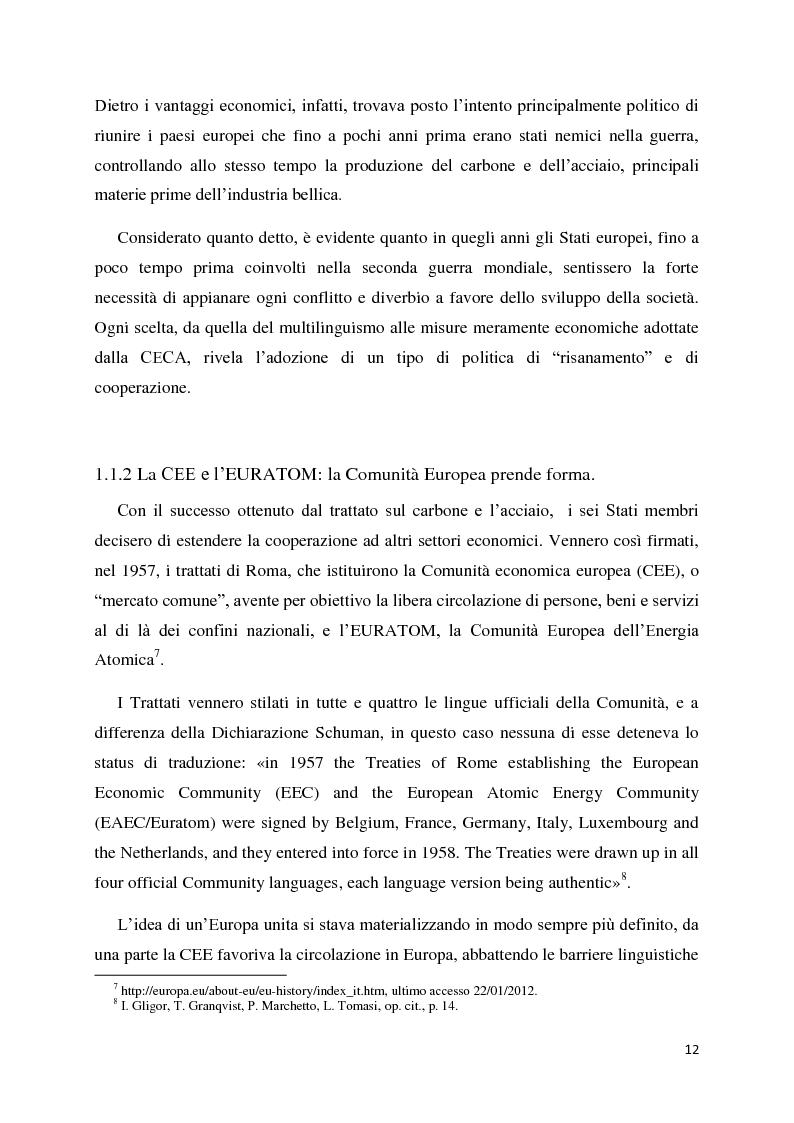 Anteprima della tesi: Tradurre per la Commissione Europea: tecnologie, metodi e strategie di lavoro dei traduttori della Direzione Generale per la Traduzione., Pagina 9