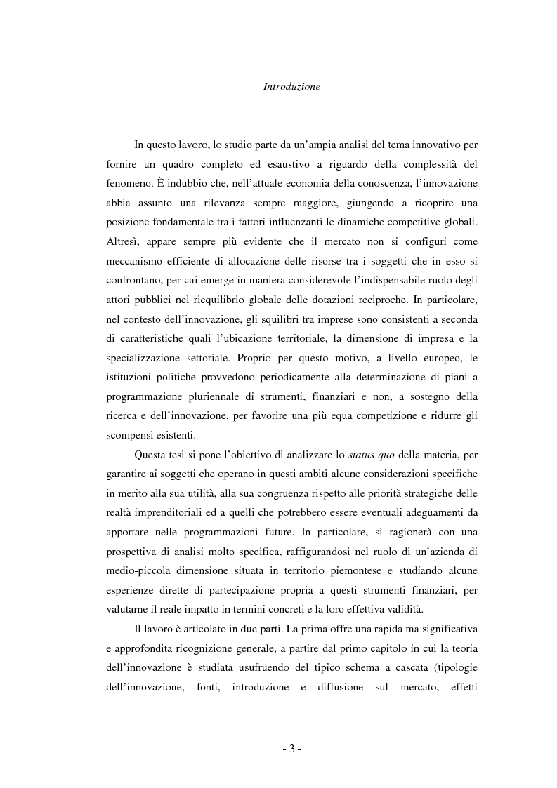 Il ruolo dei fondi pubblici nel finanziamento all'innovazione. Il caso della E++ S.r.l. - Tesi di Laurea