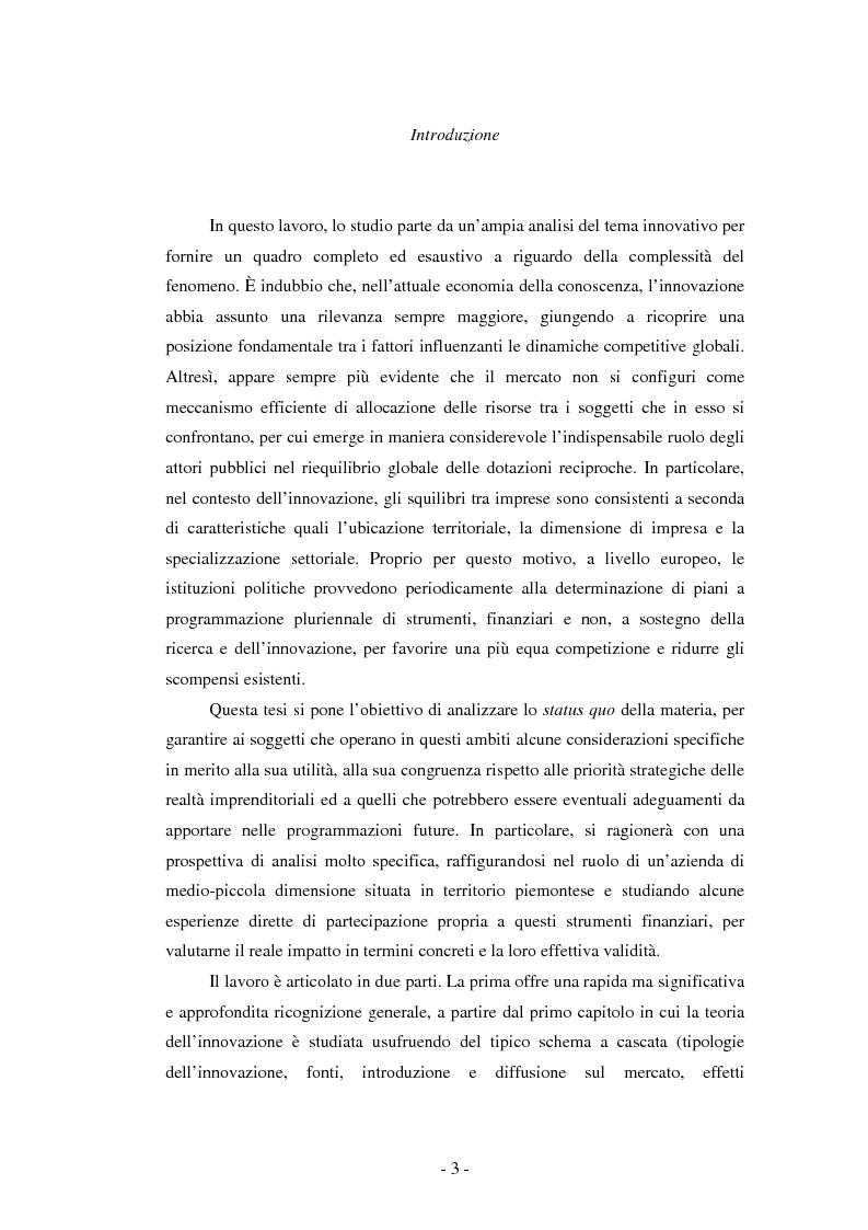 Anteprima della tesi: Il ruolo dei fondi pubblici nel finanziamento all'innovazione. Il caso della E++ S.r.l., Pagina 2