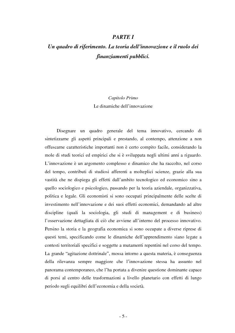 Anteprima della tesi: Il ruolo dei fondi pubblici nel finanziamento all'innovazione. Il caso della E++ S.r.l., Pagina 4