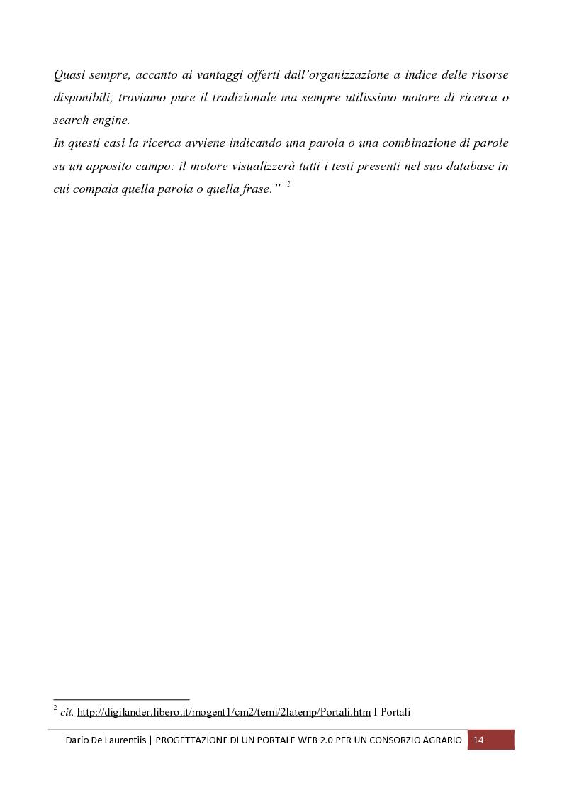 Anteprima della tesi: Progettazione di un Portale Web 2.0 per un Consorzio Agrario, Pagina 10