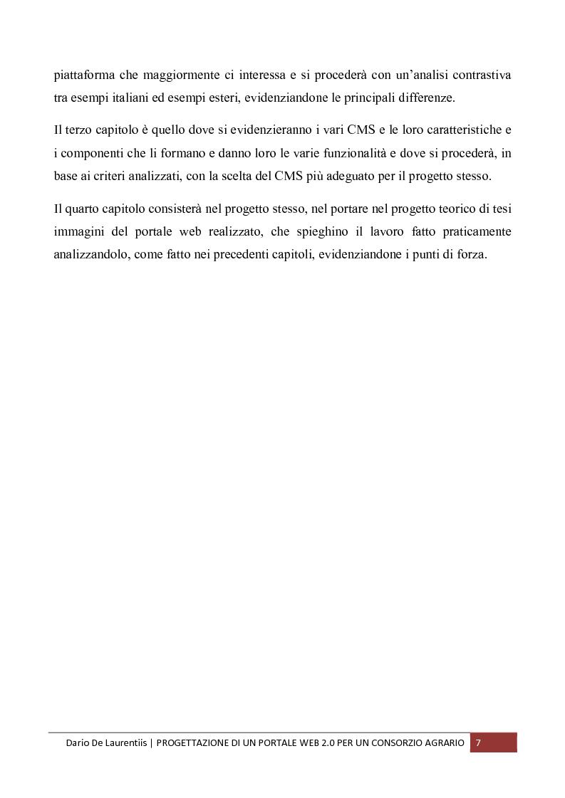 Anteprima della tesi: Progettazione di un Portale Web 2.0 per un Consorzio Agrario, Pagina 3