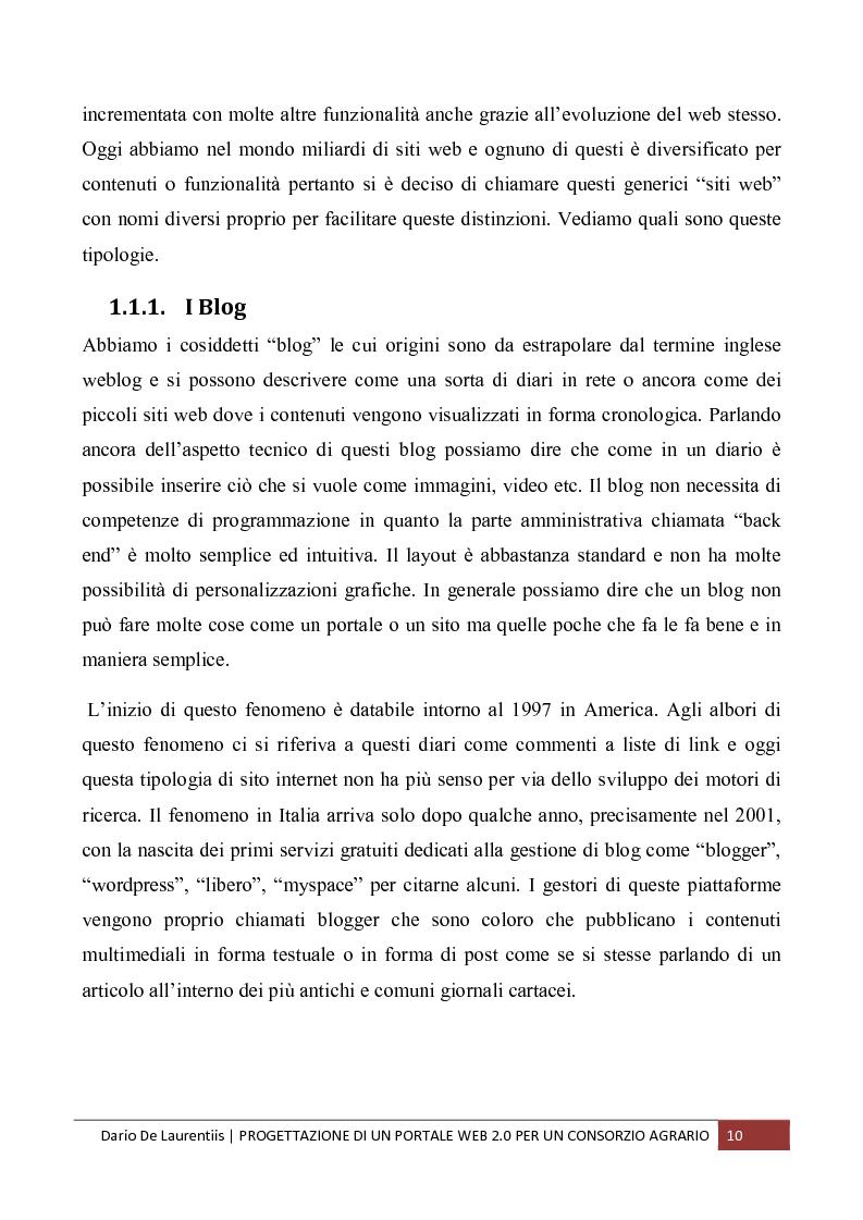 Anteprima della tesi: Progettazione di un Portale Web 2.0 per un Consorzio Agrario, Pagina 6
