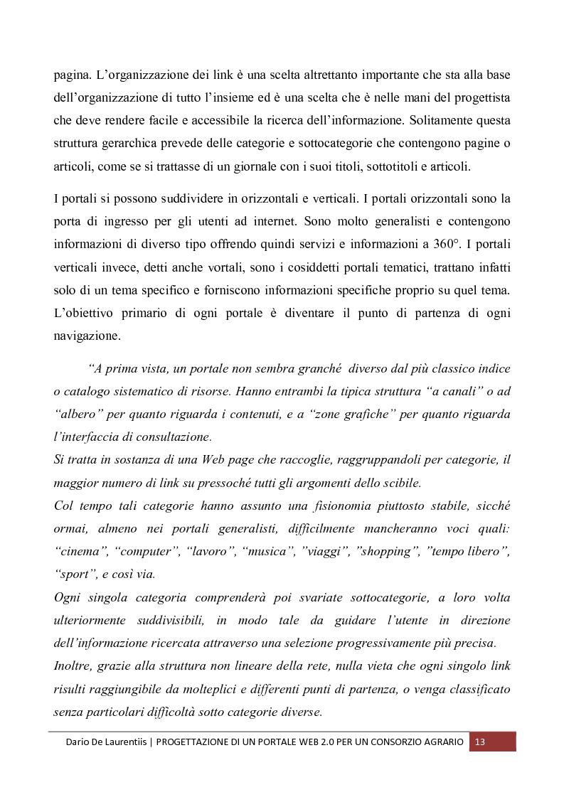 Anteprima della tesi: Progettazione di un Portale Web 2.0 per un Consorzio Agrario, Pagina 9