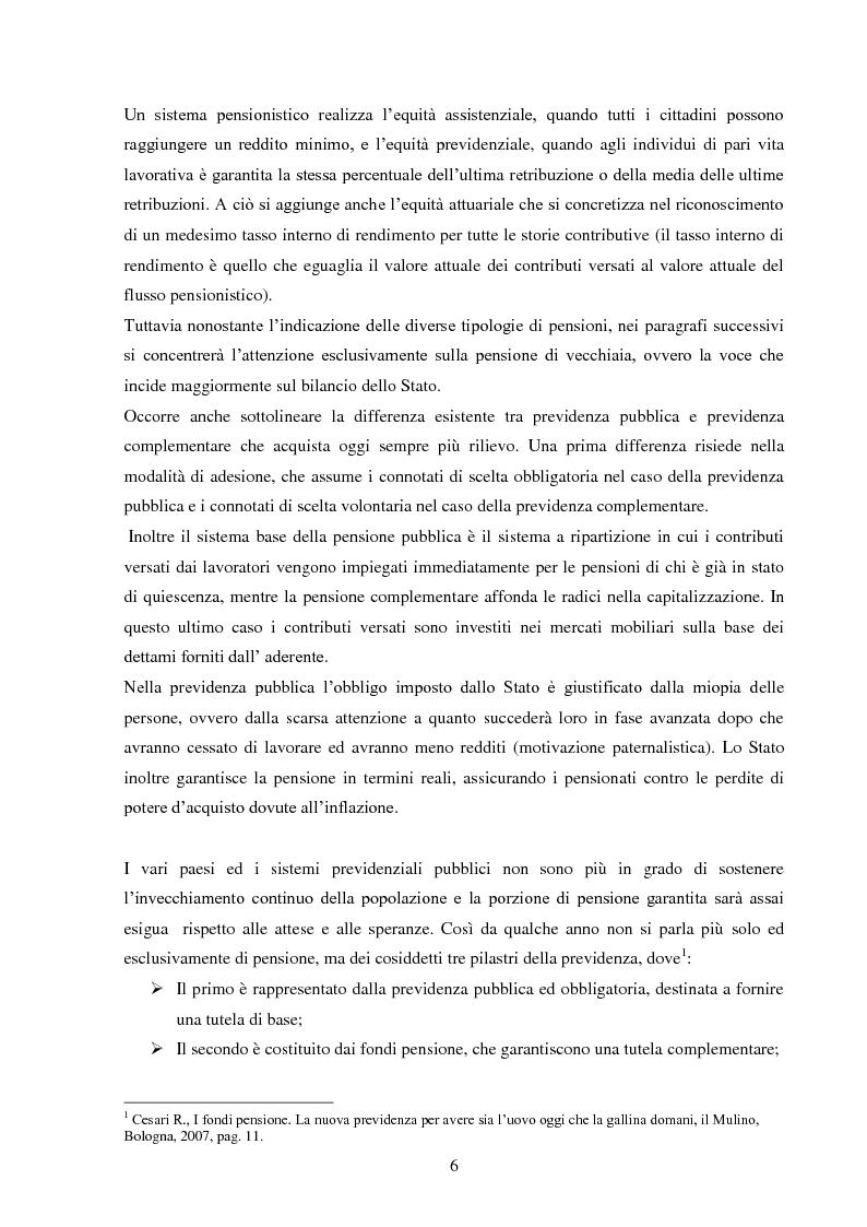 Anteprima della tesi: Sistemi previdenziali: Svezia e Italia a confronto in una prospettiva di equità, trasparenza e sostenibilità, Pagina 5