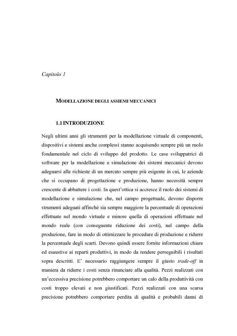 Anteprima della tesi: Uno strumento assistito dal calcolatore per la modellazione degli assiemi meccanici basato sulla teoria TTRS, Pagina 2