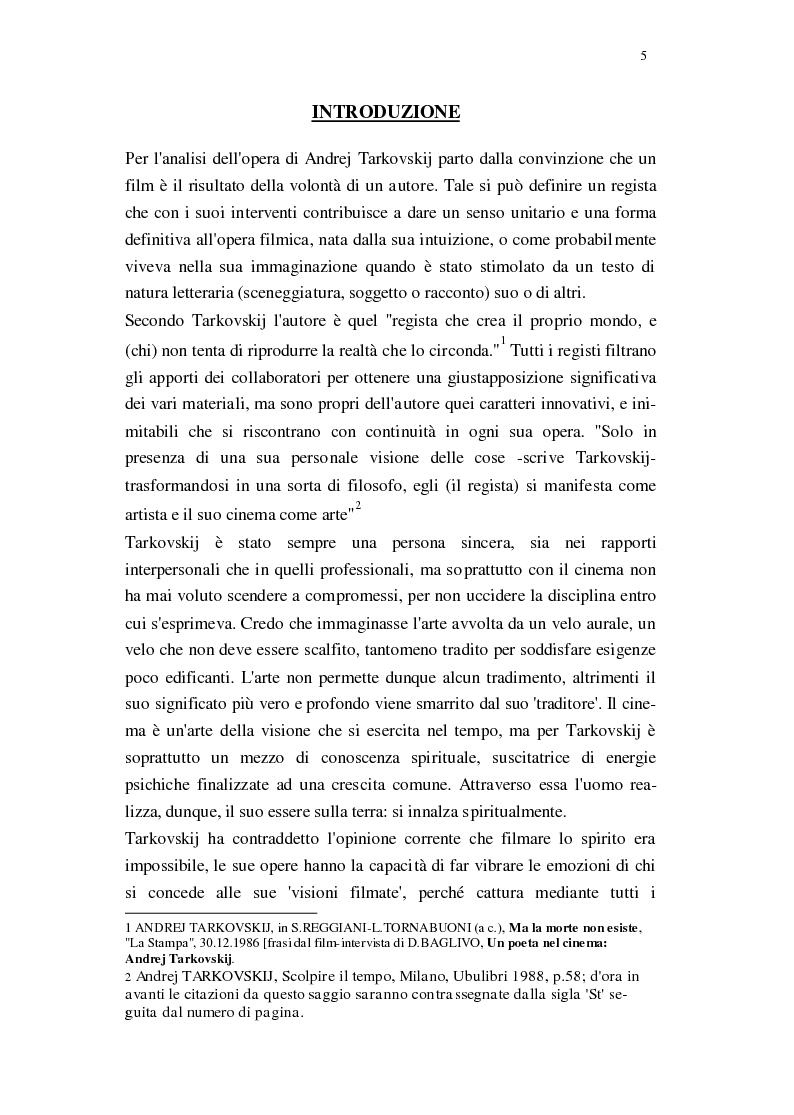 Anteprima della tesi: Il Cinema di Andrej Tarkovskij, Pagina 2