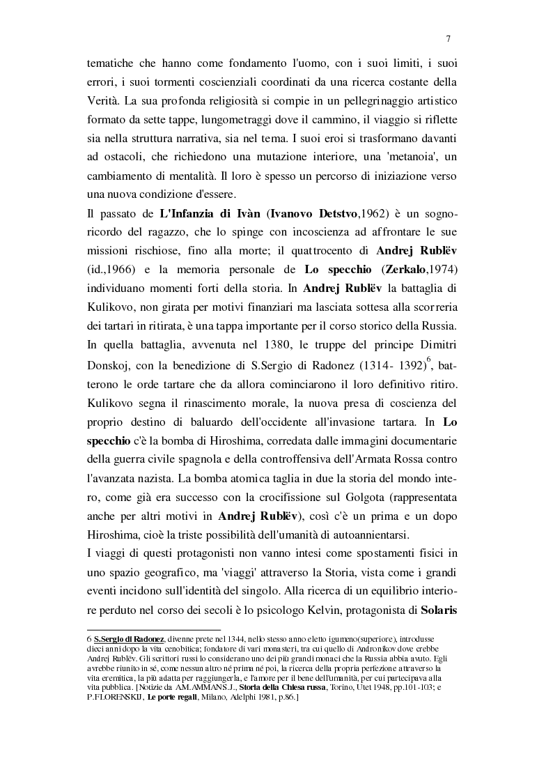 Anteprima della tesi: Il Cinema di Andrej Tarkovskij, Pagina 4