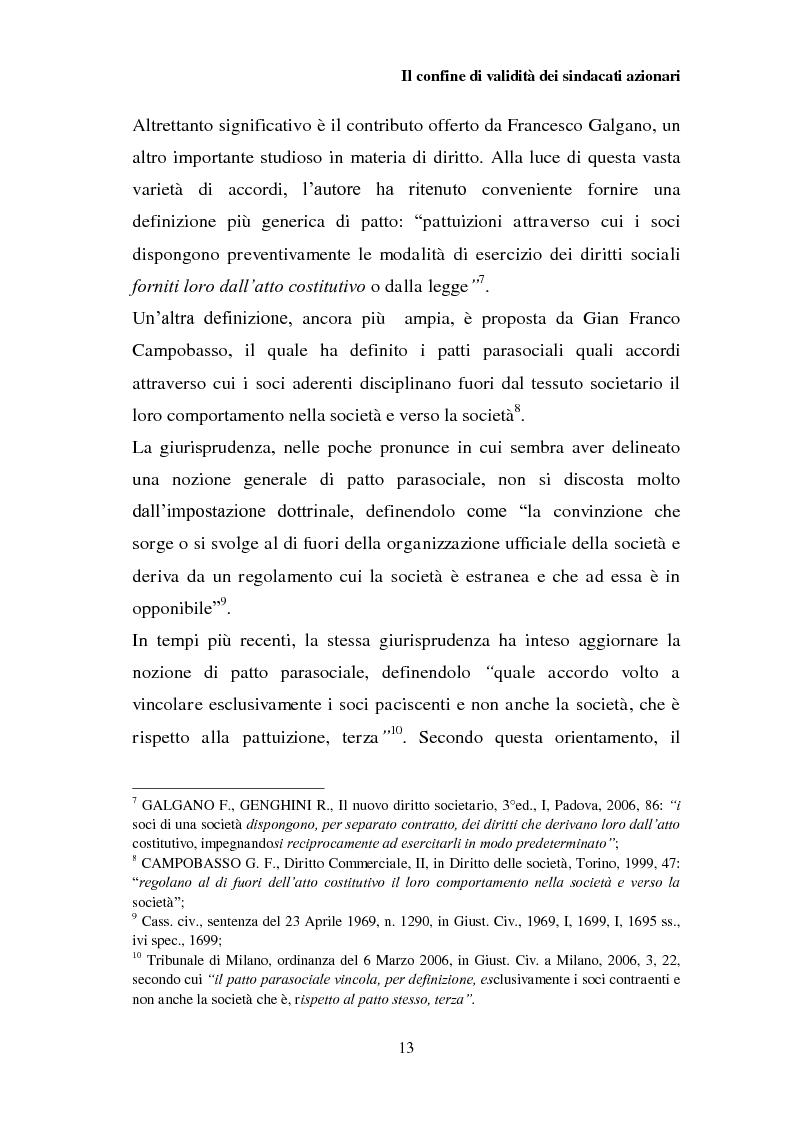 Anteprima della tesi: I patti parasociali nelle società quotate, Pagina 12