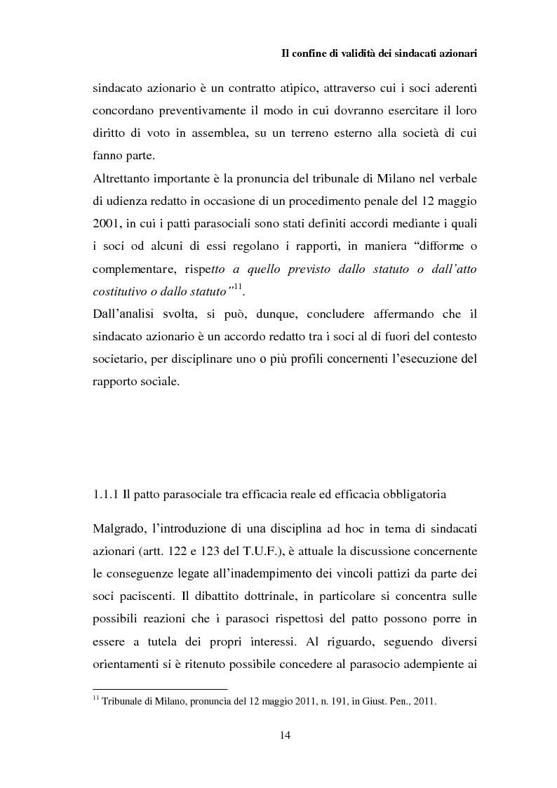 Anteprima della tesi: I patti parasociali nelle società quotate, Pagina 13