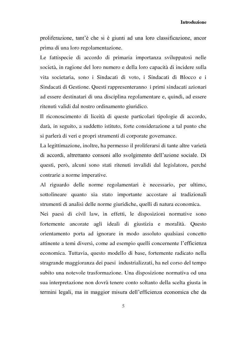 Anteprima della tesi: I patti parasociali nelle società quotate, Pagina 4