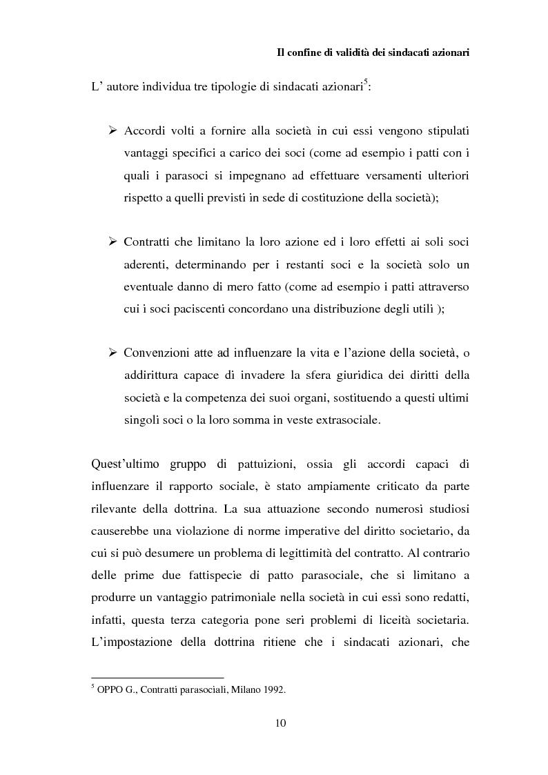 Anteprima della tesi: I patti parasociali nelle società quotate, Pagina 9