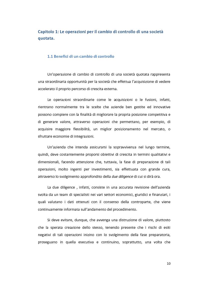 Anteprima della tesi: L'utilizzo della leva finanziaria nelle operazioni di cambio di controllo di società quotate., Pagina 8