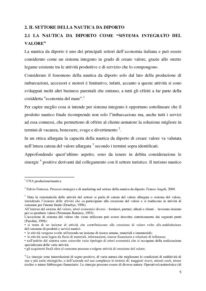 Anteprima della tesi: Il settore della nautica e la crisi. Il caso del riposizionamento competitivo di General s.r.l., Pagina 4