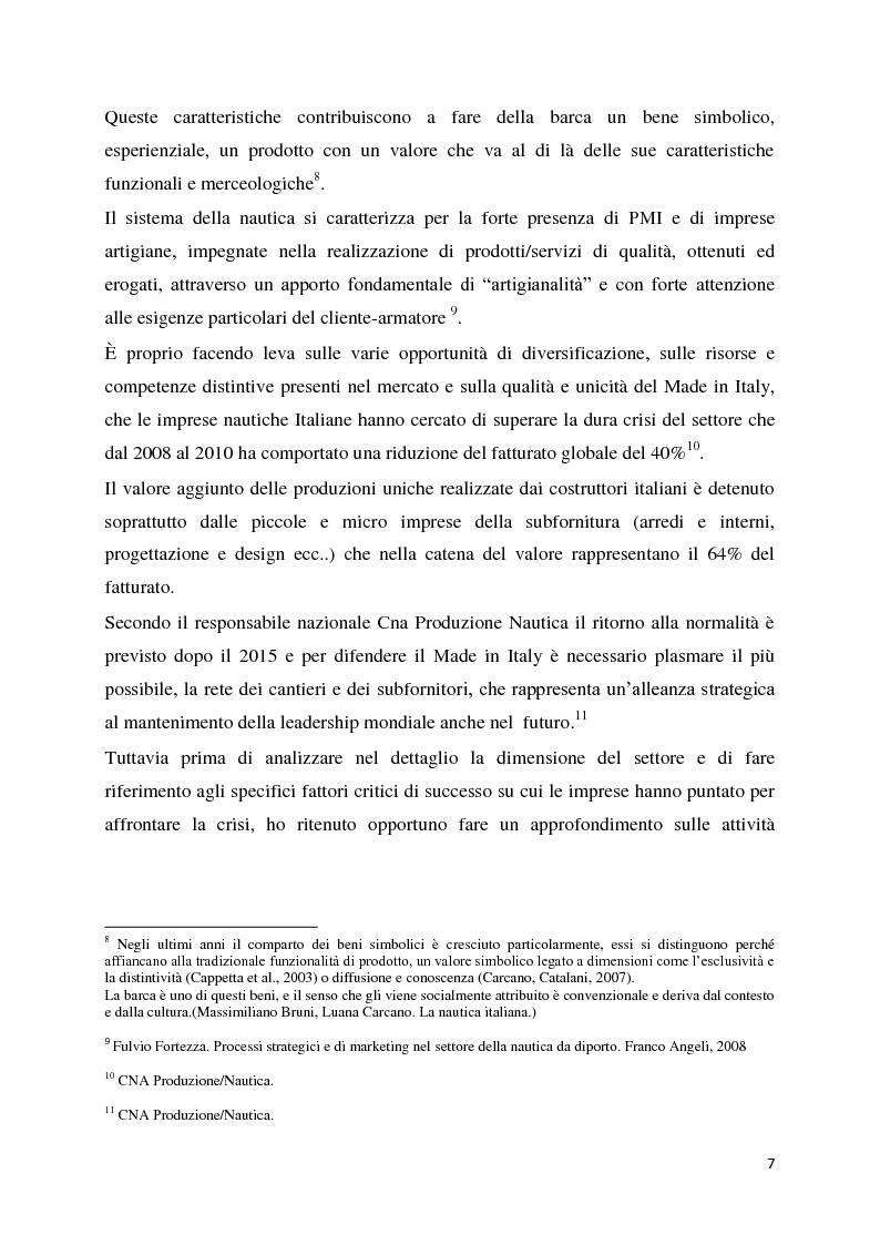Anteprima della tesi: Il settore della nautica e la crisi. Il caso del riposizionamento competitivo di General s.r.l., Pagina 6