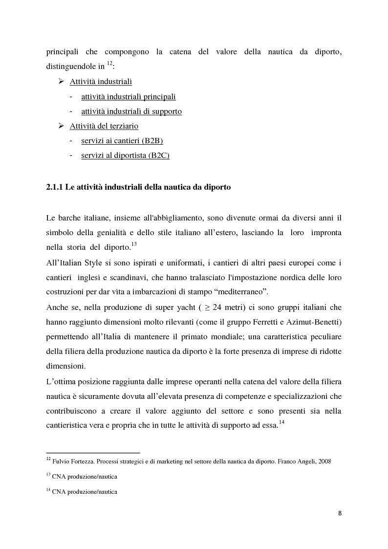 Anteprima della tesi: Il settore della nautica e la crisi. Il caso del riposizionamento competitivo di General s.r.l., Pagina 7