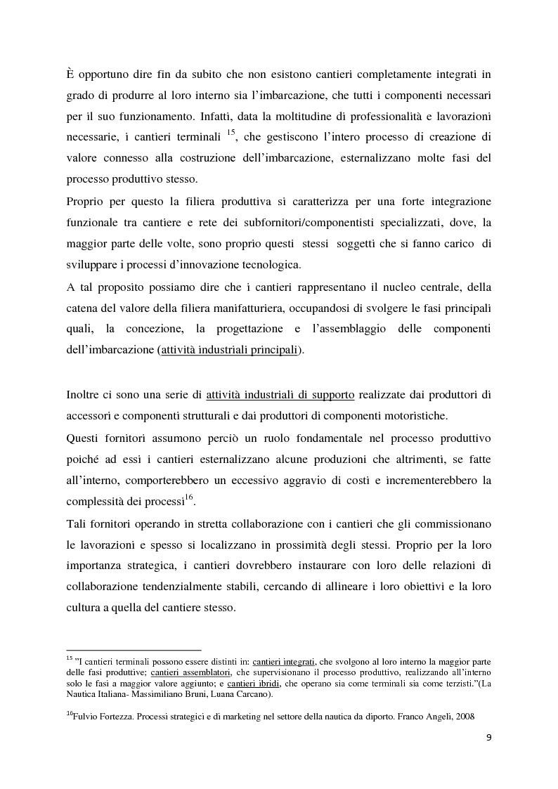 Anteprima della tesi: Il settore della nautica e la crisi. Il caso del riposizionamento competitivo di General s.r.l., Pagina 8