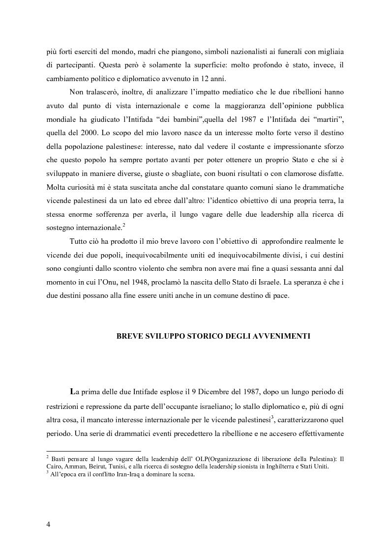 Anteprima della tesi: Analisi comparata tra la prima e la seconda intifada palestinese, Pagina 3