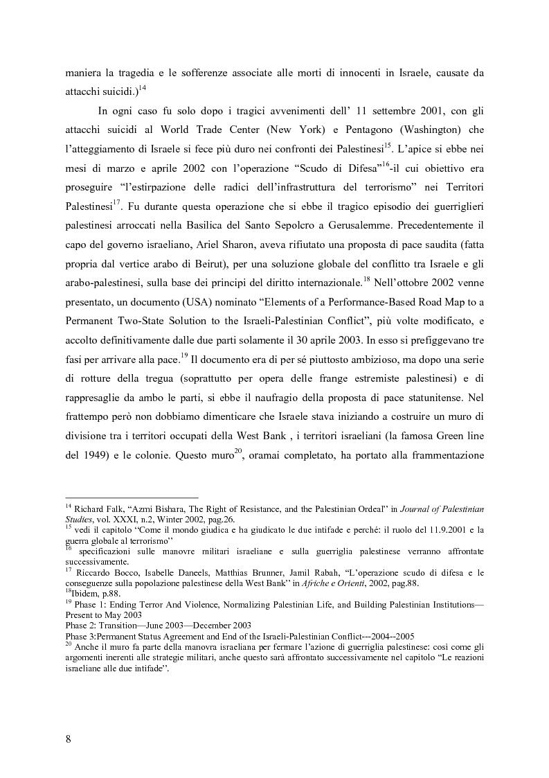 Anteprima della tesi: Analisi comparata tra la prima e la seconda intifada palestinese, Pagina 7