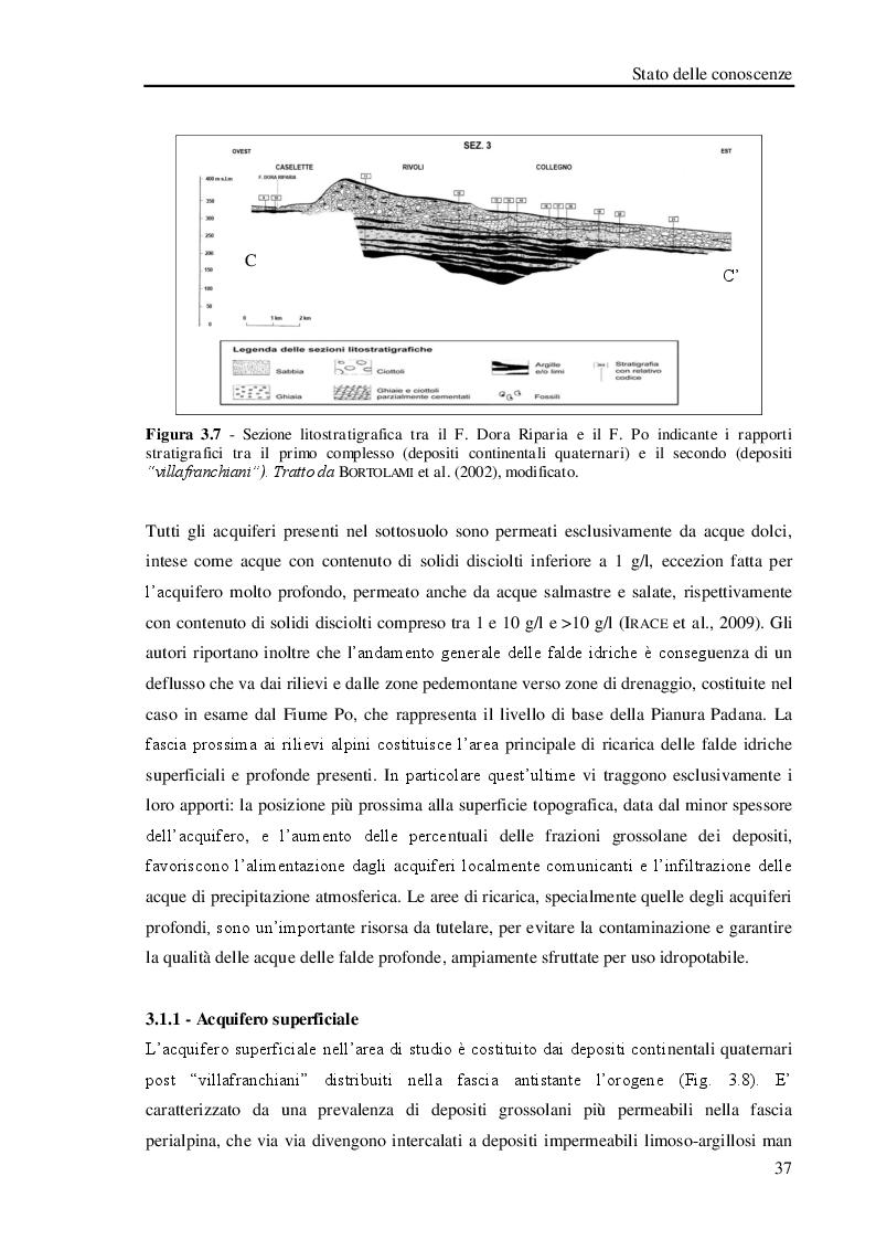 Anteprima della tesi: Studio geologico-ambientale del settore della provincia di Torino compreso tra il Fiume Dora Riparia e i torrenti Ceronda e Casternone, Pagina 10
