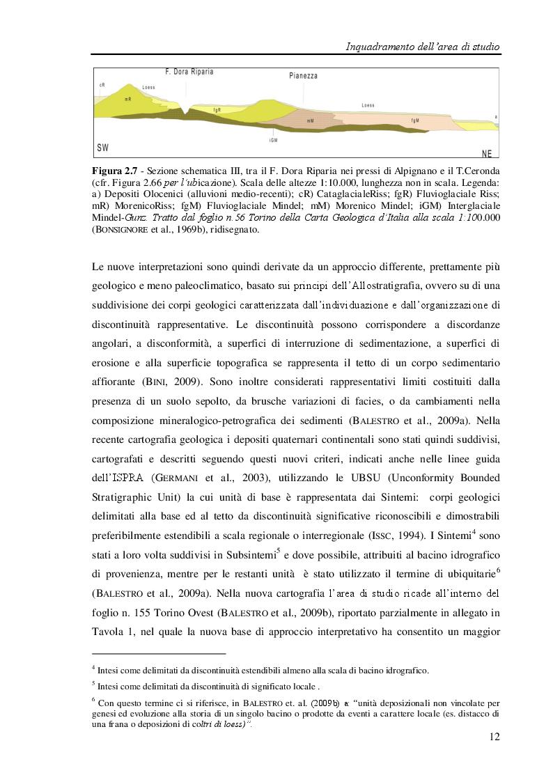 Anteprima della tesi: Studio geologico-ambientale del settore della provincia di Torino compreso tra il Fiume Dora Riparia e i torrenti Ceronda e Casternone, Pagina 7