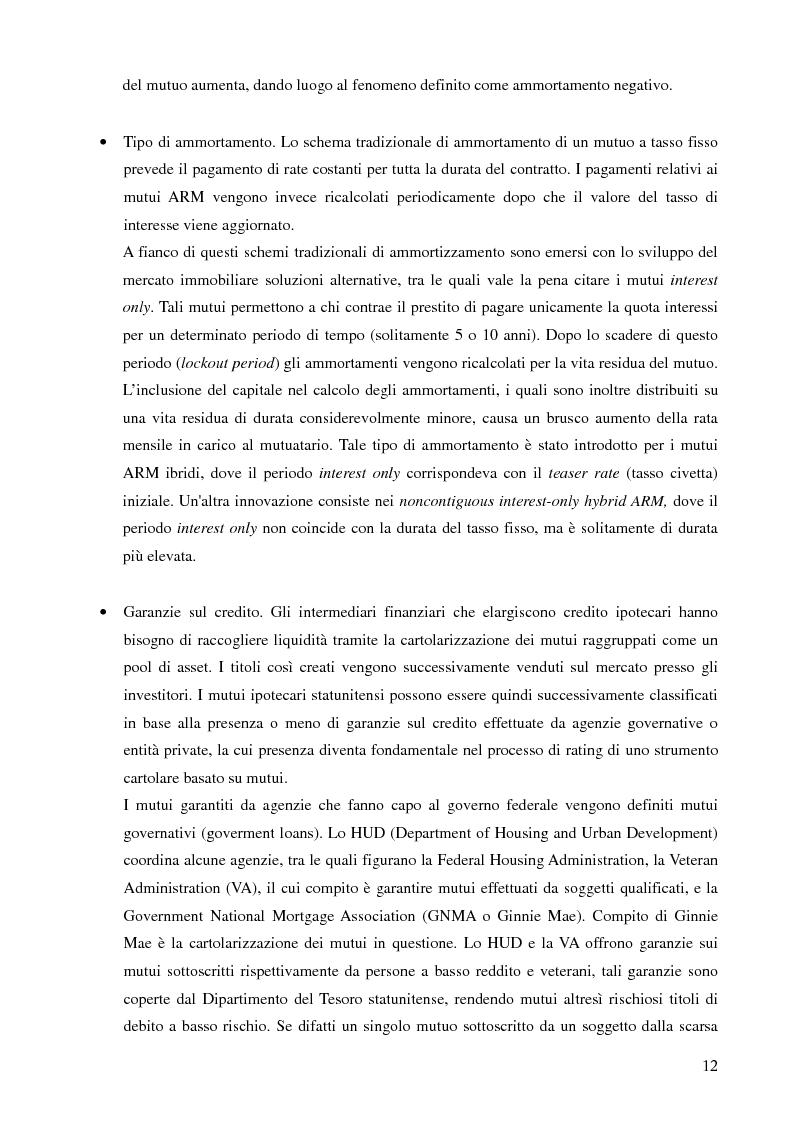 Anteprima della tesi: Mutui sub-prime e cartolarizzazione nella crisi finanziaria del 2007, Pagina 11