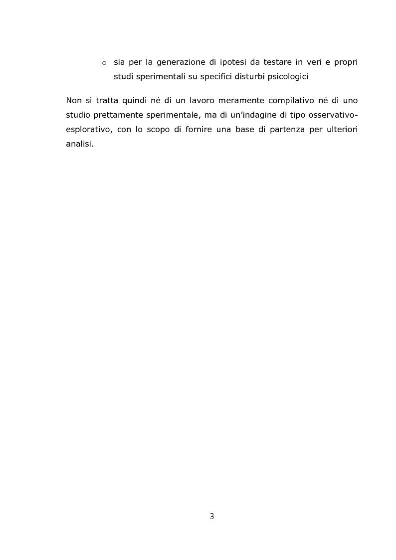 Anteprima della tesi: Teorie psicologiche ingenue sull'agorafobia nei forum on-line, Pagina 4