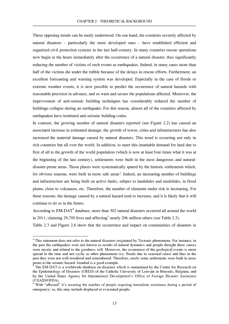 Anteprima della tesi: The Seismic Risk in a Mega-City. Emergency planning in Istanbul, Pagina 14