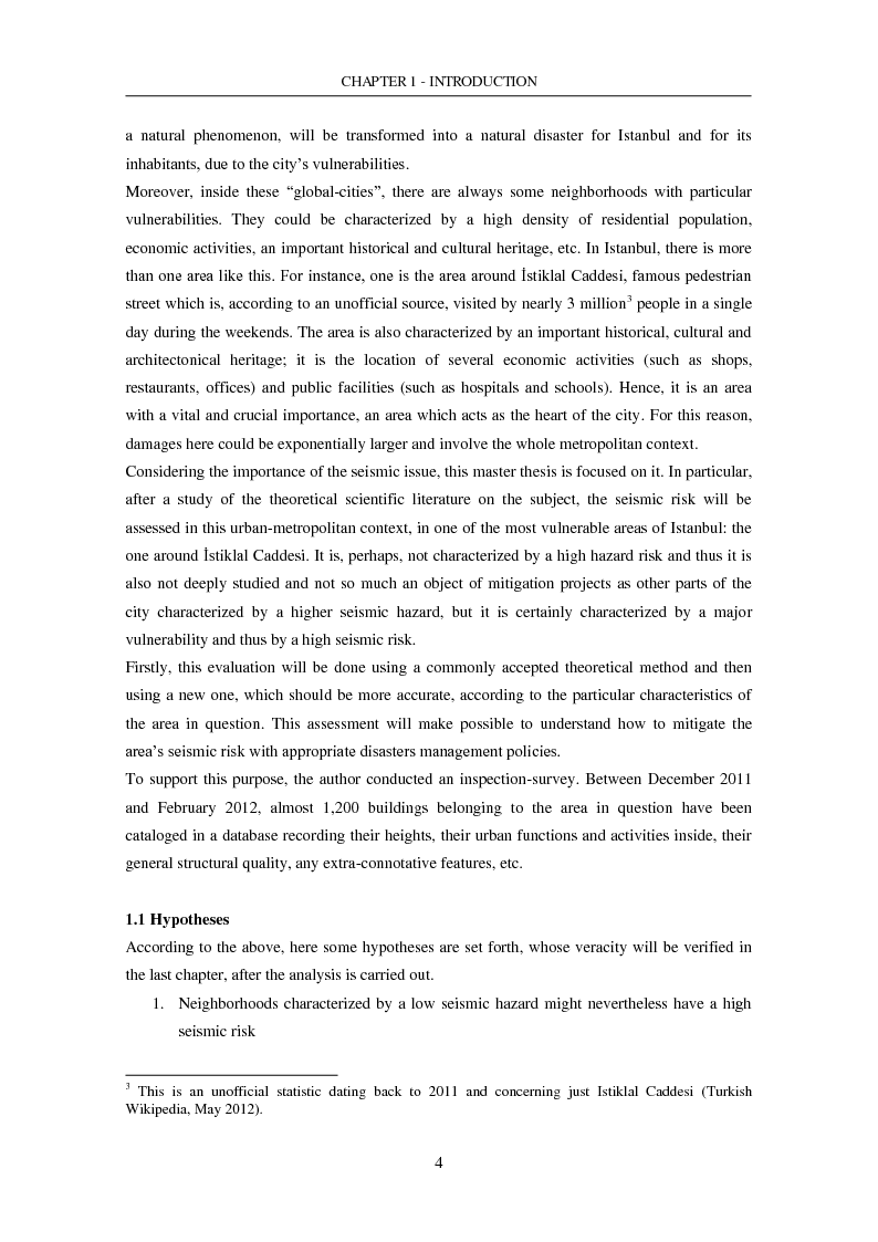 Anteprima della tesi: The Seismic Risk in a Mega-City. Emergency planning in Istanbul, Pagina 5