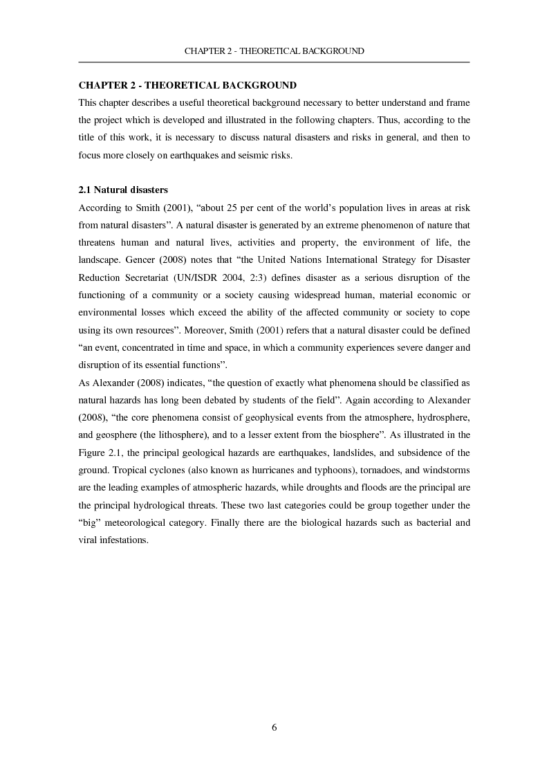 Anteprima della tesi: The Seismic Risk in a Mega-City. Emergency planning in Istanbul, Pagina 7