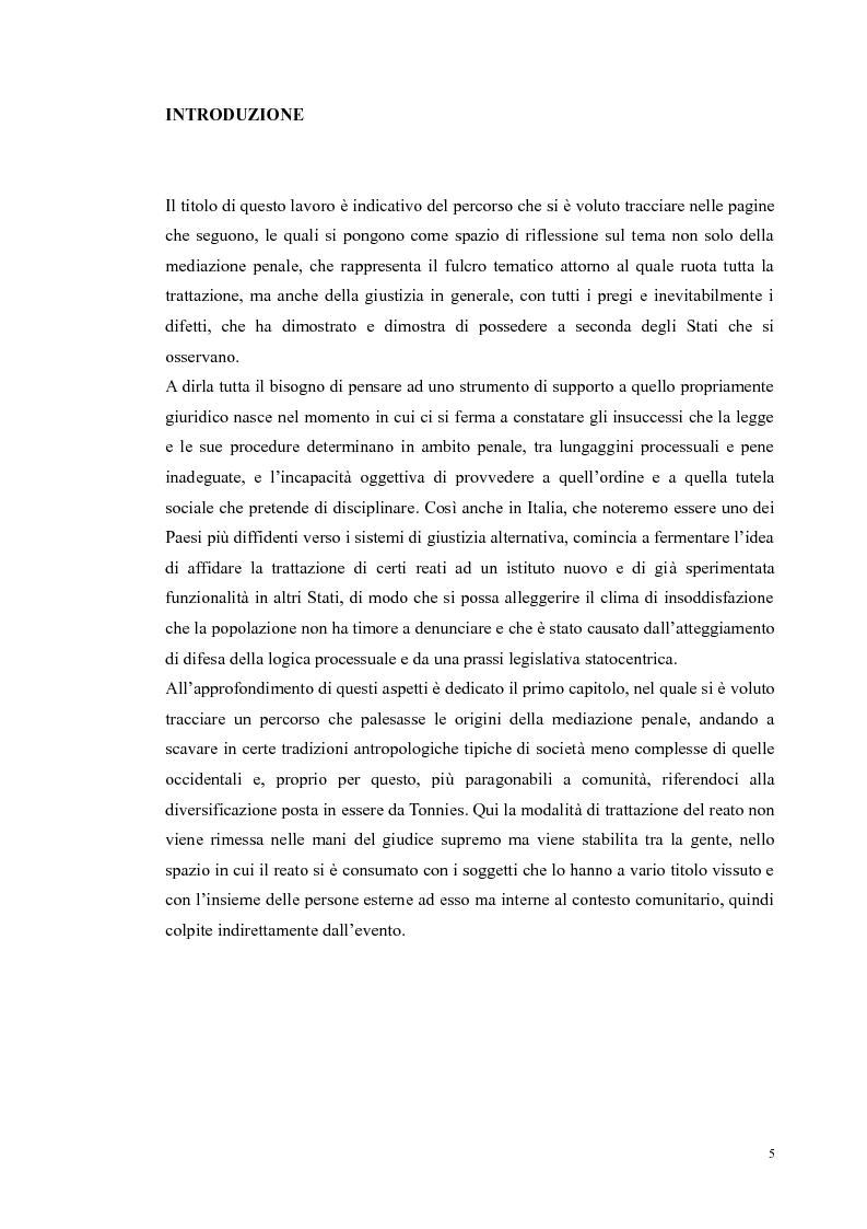 Anteprima della tesi: Ripensare Riparando. Riflessione sulla dimensione psicologica della mediazione penale., Pagina 2