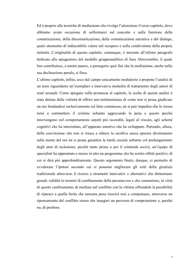Anteprima della tesi: Ripensare Riparando. Riflessione sulla dimensione psicologica della mediazione penale., Pagina 4