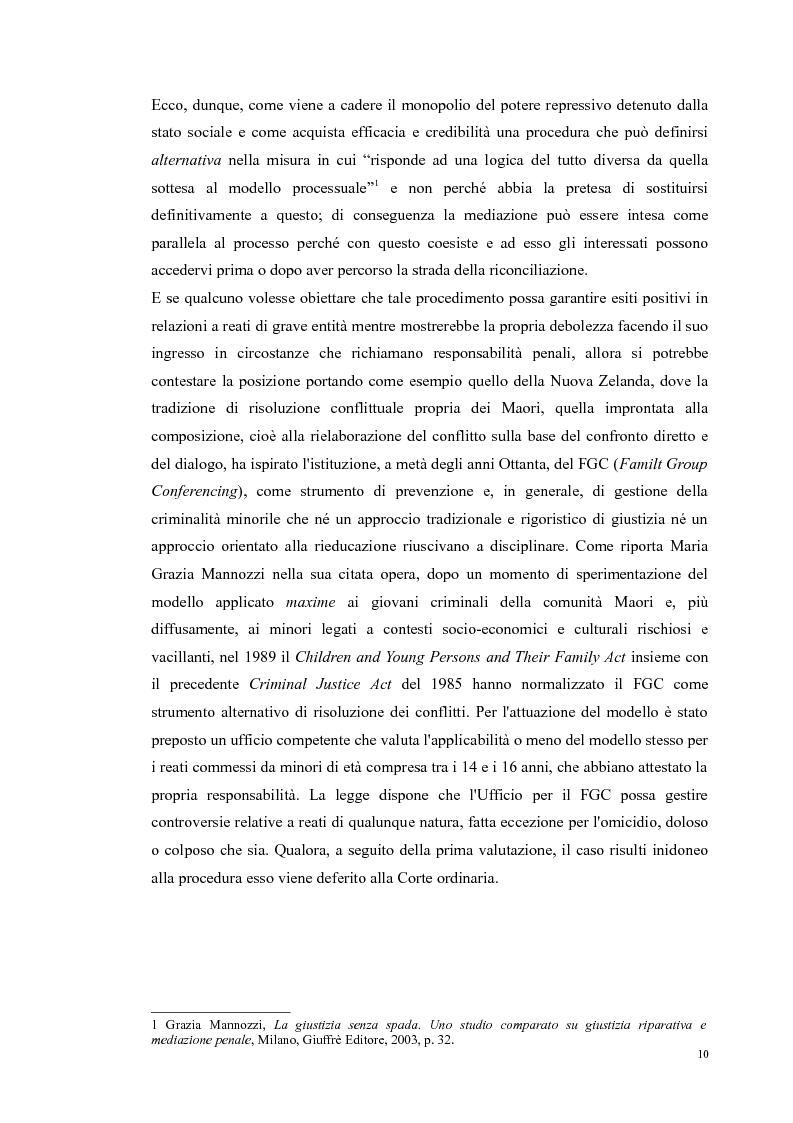 Anteprima della tesi: Ripensare Riparando. Riflessione sulla dimensione psicologica della mediazione penale., Pagina 7
