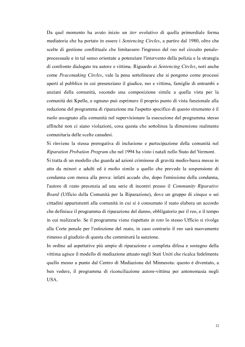 Anteprima della tesi: Ripensare Riparando. Riflessione sulla dimensione psicologica della mediazione penale., Pagina 9