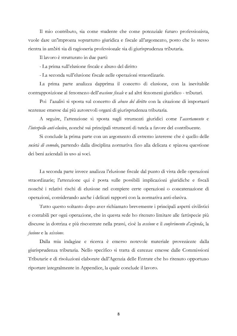 Anteprima della tesi: Elusione fiscale e abuso del diritto nelle operazioni straordinarie d'impresa, Pagina 3