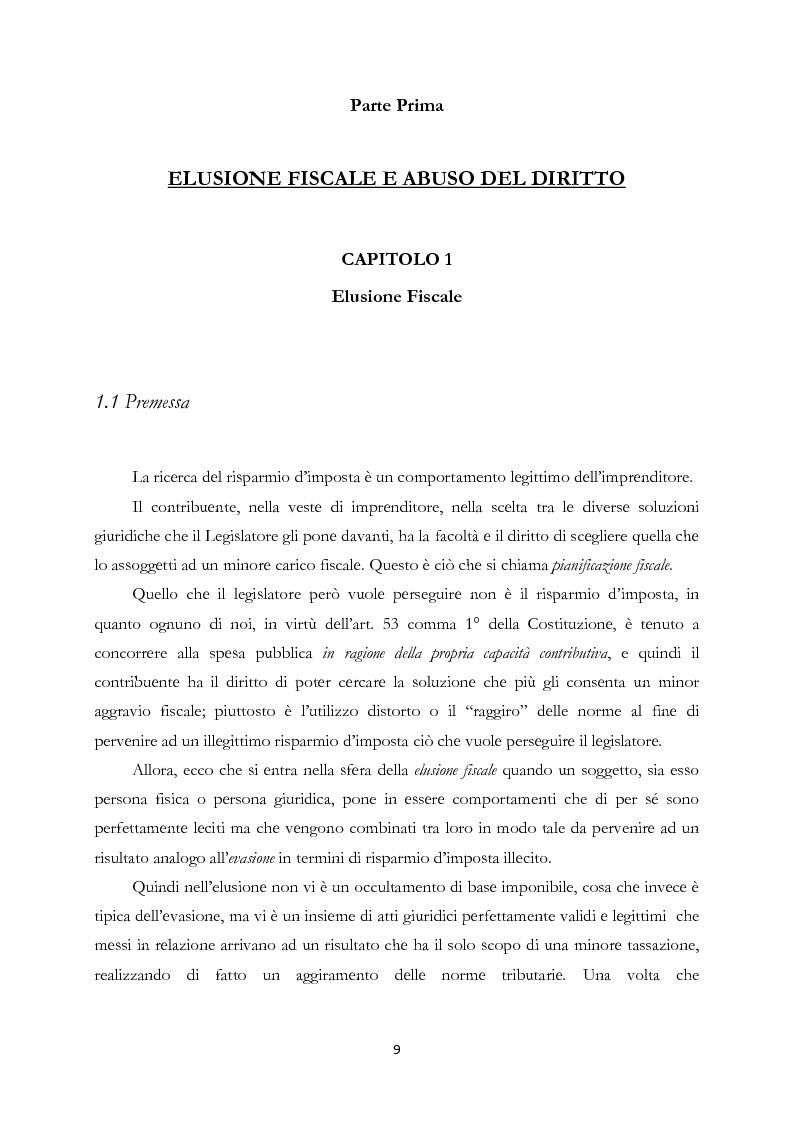 Anteprima della tesi: Elusione fiscale e abuso del diritto nelle operazioni straordinarie d'impresa, Pagina 4