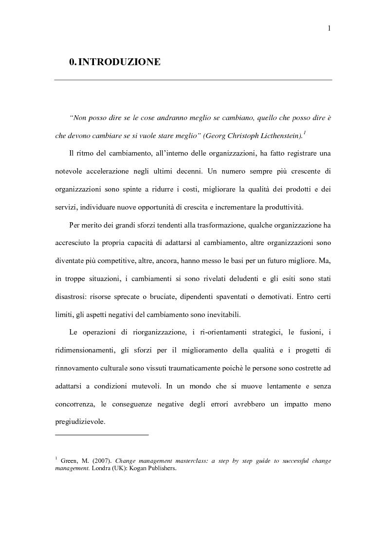 Anteprima della tesi: Il Significato del Change Management, Pagina 2